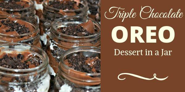 Triple Chocolate Oreo Dessert In A Jar