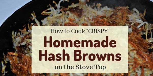 Cook Crispy Stove Top Hash Browns