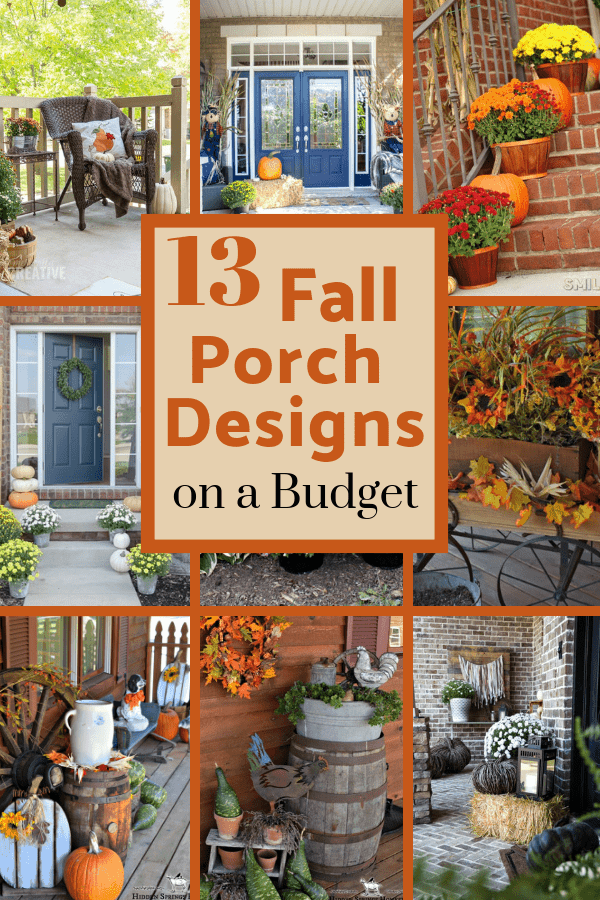Decorate Your Fall Porch Decor On A Budget Using Pumpkins Mums Benches And