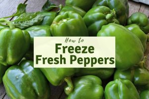 Freeze peppers the simple way