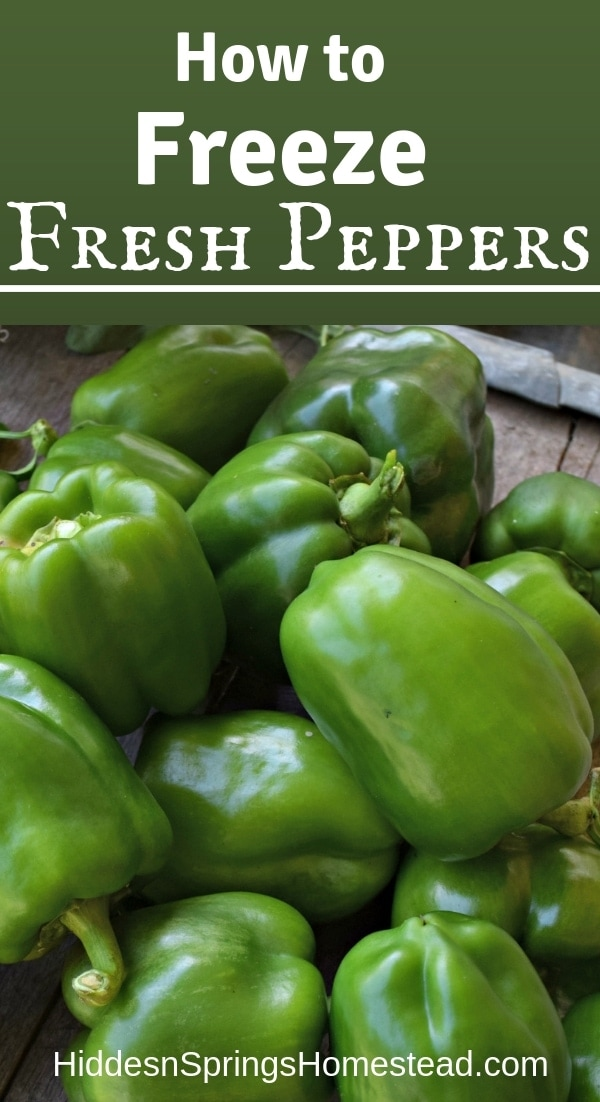 Freezing Peppers easily
