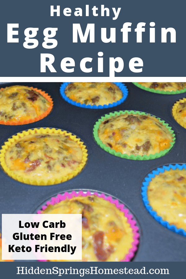 Baked low carb egg muffins. Hidden Springs Homestead