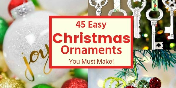Handmade Ornaments. 45 Handmade Christmas Ornament Ideas. Hidden Springs Homestead