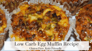 low carb egg muffin cooked and ready to eat. Hidden Springs Homestead