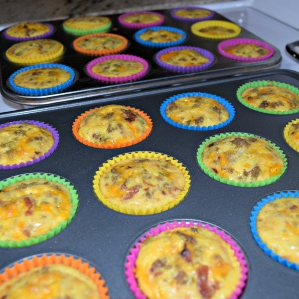 Cooked, ready to eat low carb egg muffins. Hidden Springs Homestead