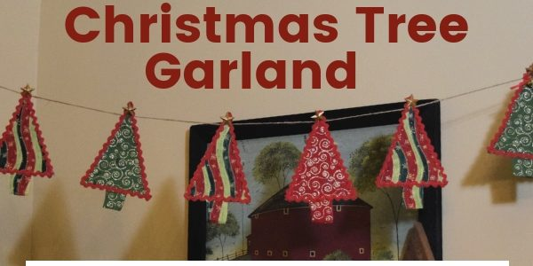 Tree Garland hanging. DIY Handmade Christmas Tree Garland Tutorial. Hidden Springs Homestead