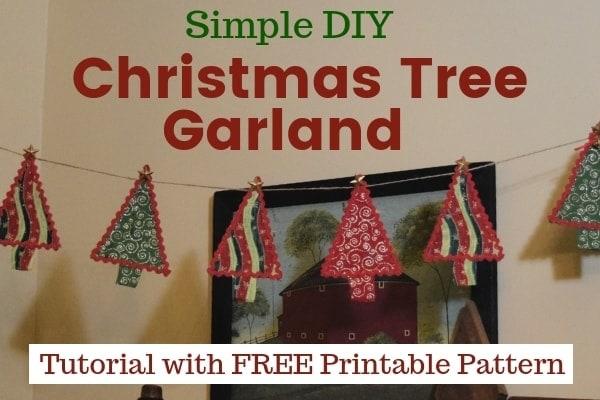 Diy Handmade Christmas Tree Garland Tutorial Hidden Springs Homestead