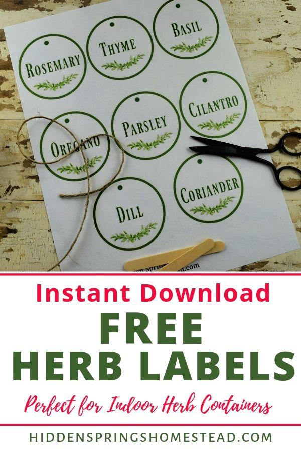 Digital download Herb labels