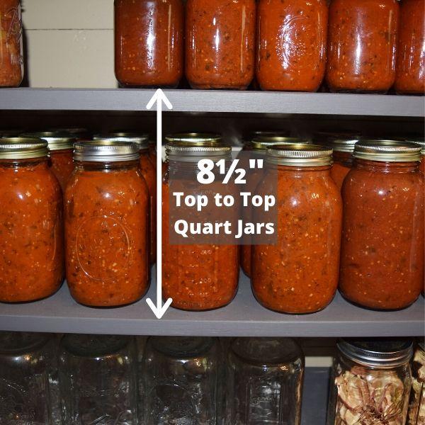 8.5 inch canning storage